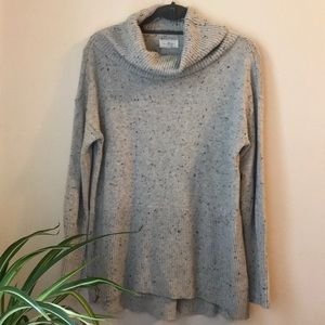 LOU & GREY Cowlneck Speckled Sweater